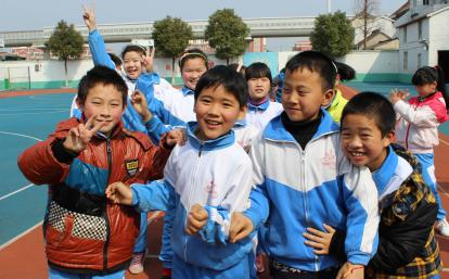 Children at a school in China which is also placement for our teaching volunteers.